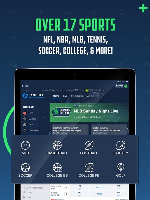 iPad Image of FanDuel Sportsbook & Casino