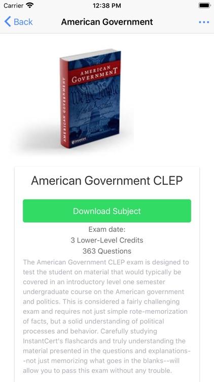 InstantCert CLEP screenshot-3