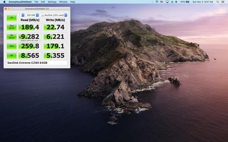 AmorphousDiskMark for Mac
