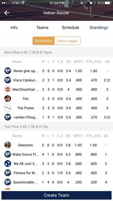 Screenshot for IMLeagues in Canada App Store