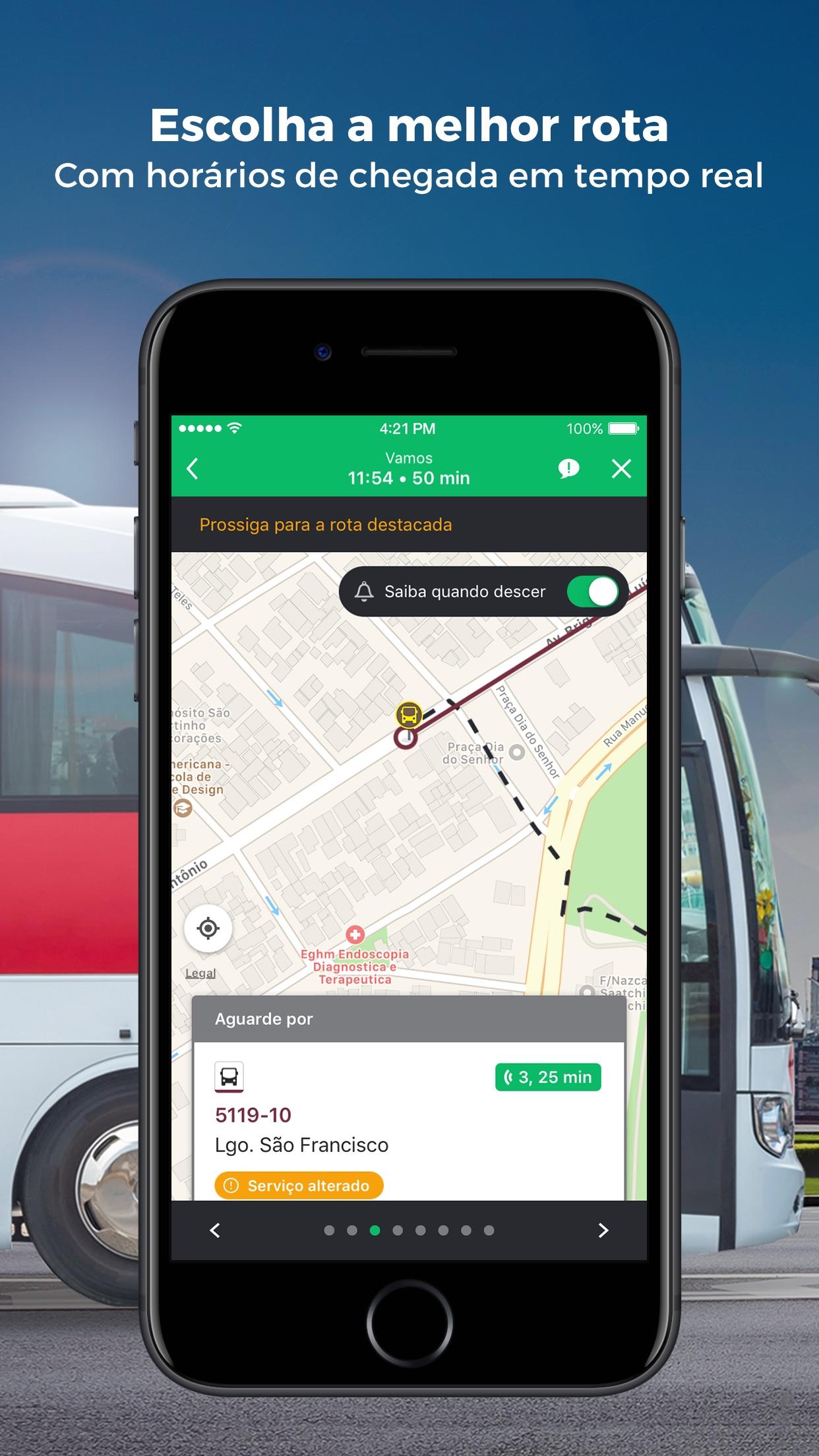 Screenshot do app Moovit: Transporte Público