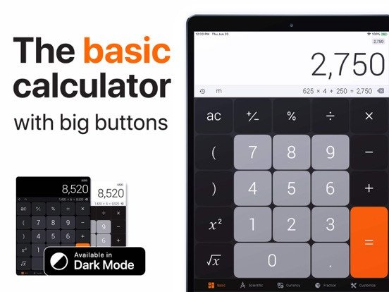 Screenshots for The Calculator