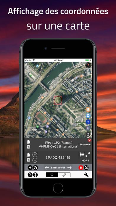 Screenshot #1 pour Coordinates - Formateur GPS