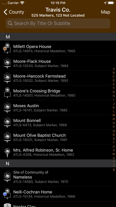 Texas Historical Marker Guide Screenshot