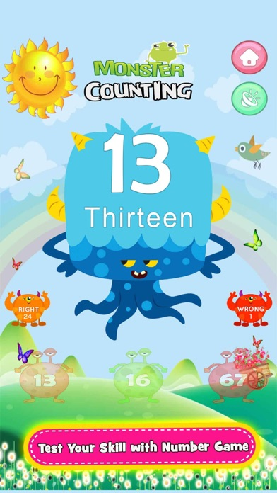 Screenshot for Monster Math Counting Game Pro in United States App Store