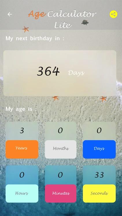 Age Calculator Lite screenshot-3