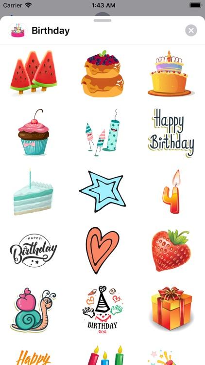 200+ Happy Birthday Stickers screenshot-6