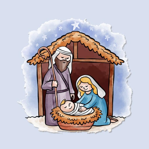 Cozy Nativity Scene Stickers