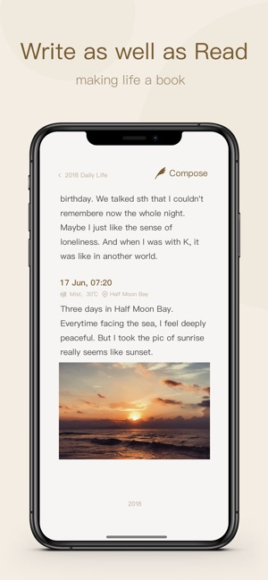 Once - Journal/Diary/Note App Screenshot