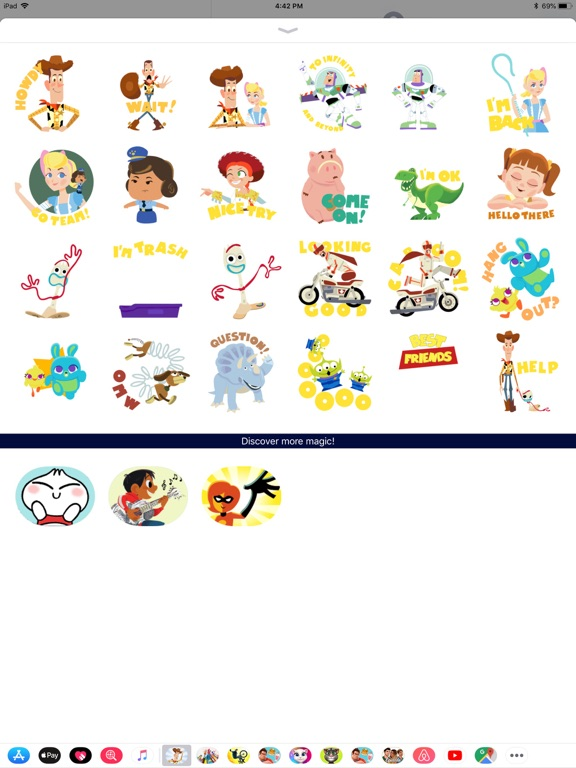 Pixar Stickers: Toy Story 4 screenshot 6