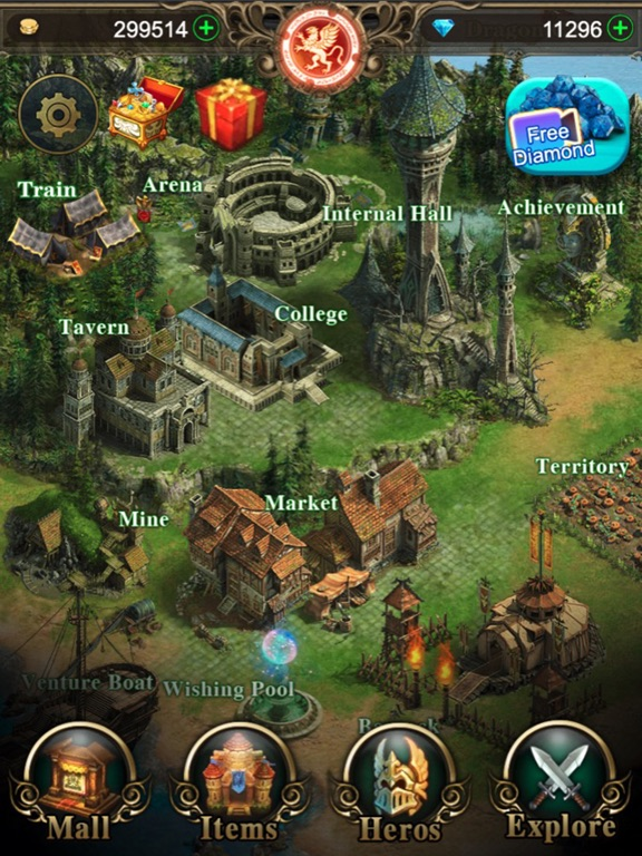 Ipad Screen Shot War of Heroes: Origin of Chaos 0