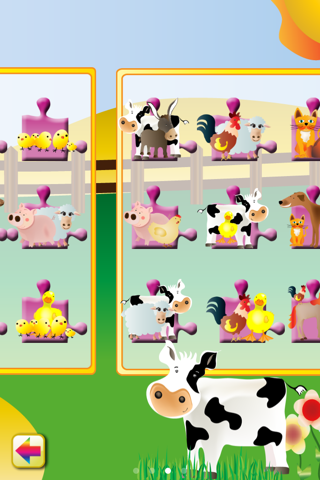 Animal Jigsaw Puzzle: Farm - náhled