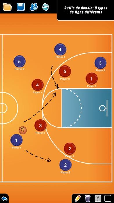Screenshot #3 pour Planche Tactique: Basketball++