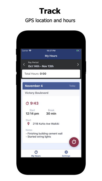 Employee Link Time Tracker screenshot four
