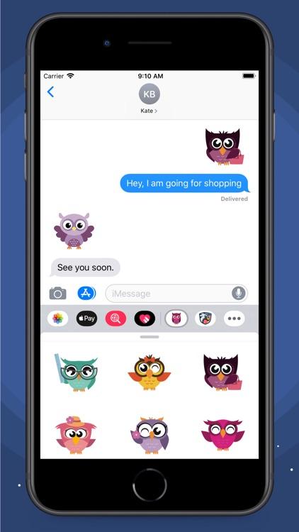 Owl Smiley Stickers screenshot-6