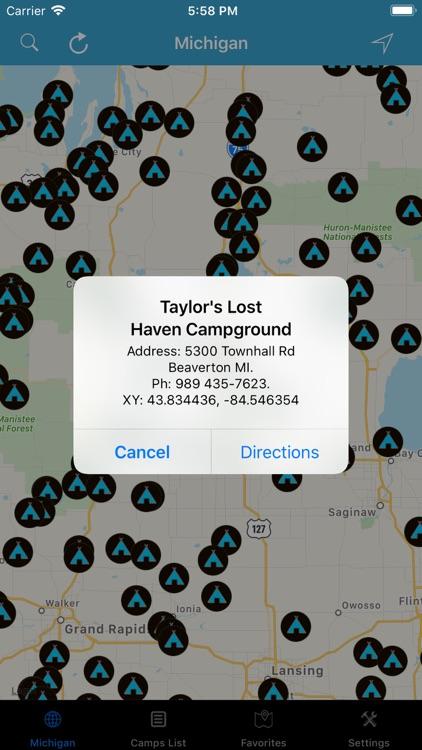 Michigan – Campgrounds & RV's screenshot-3