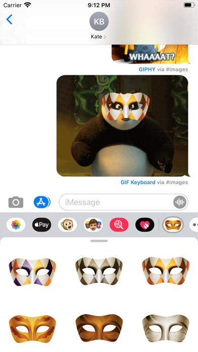 Masquerade Mask Stickers screenshot 2