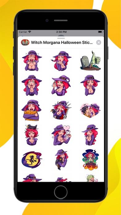 Witch Morgana Stickers screenshot 1