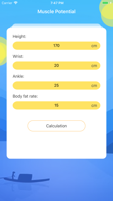 Muscle Potential-Calculation screenshot 3