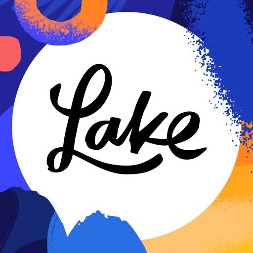 Lake 塗り絵本