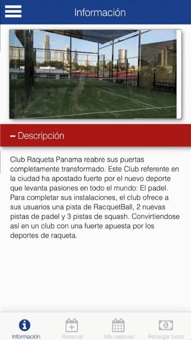 Club Raqueta Panama screenshot 1