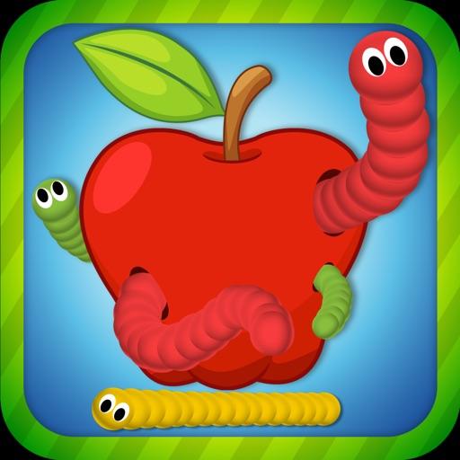 Snake Slither. Apple Eater War