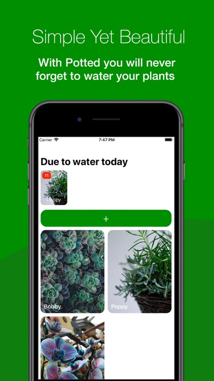 Potted - Plant watering diary