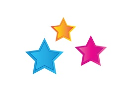 The ColoredStarSt is a funny sticker which are designed the star with the colours