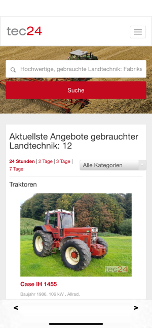 tec24 on the app store  gebrauchte landmaschinen ubers iphone #6