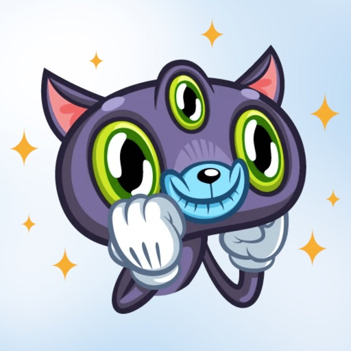Three Eyes Cat Stickers