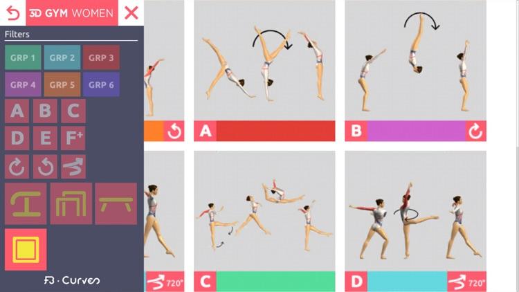 3D Gym Women - FB Curves