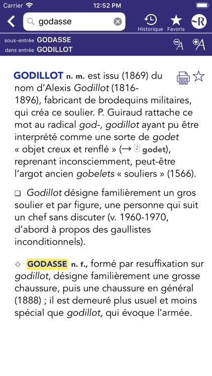 Dictionnaire Robert Historique screenshot-8