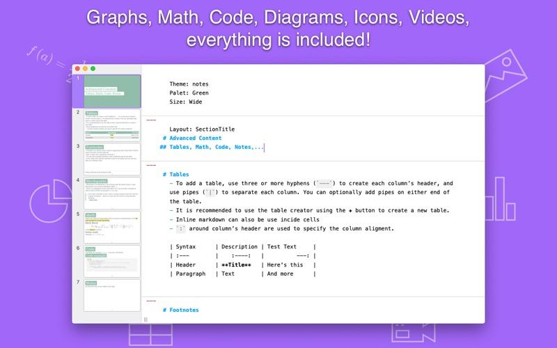 Slideas- Markdown Presentation скриншот программы 2