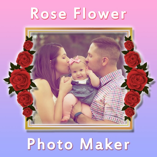 Rose Flower Photo Frame