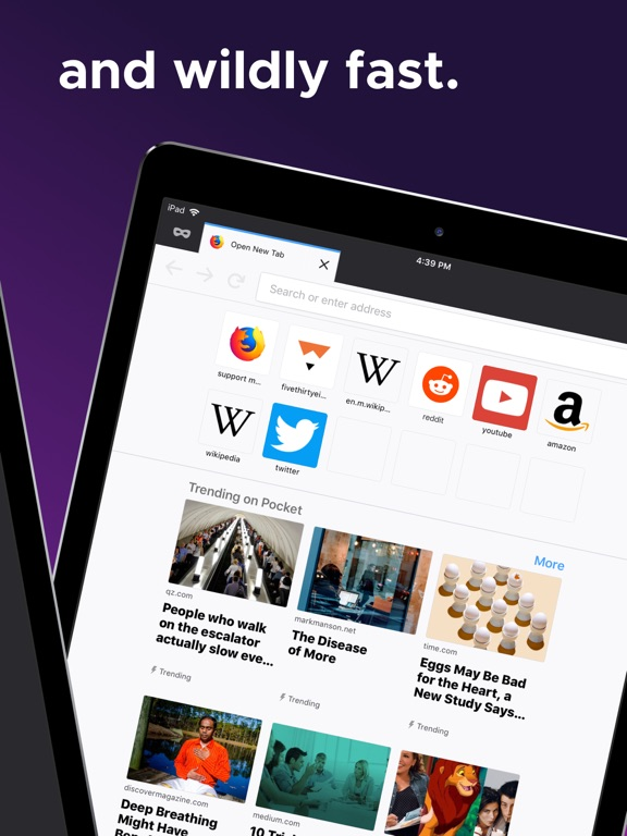 iPad Image of Firefox: Private, Safe Browser