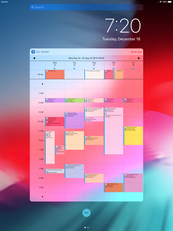 Week Calendar Widget Pro Screenshots
