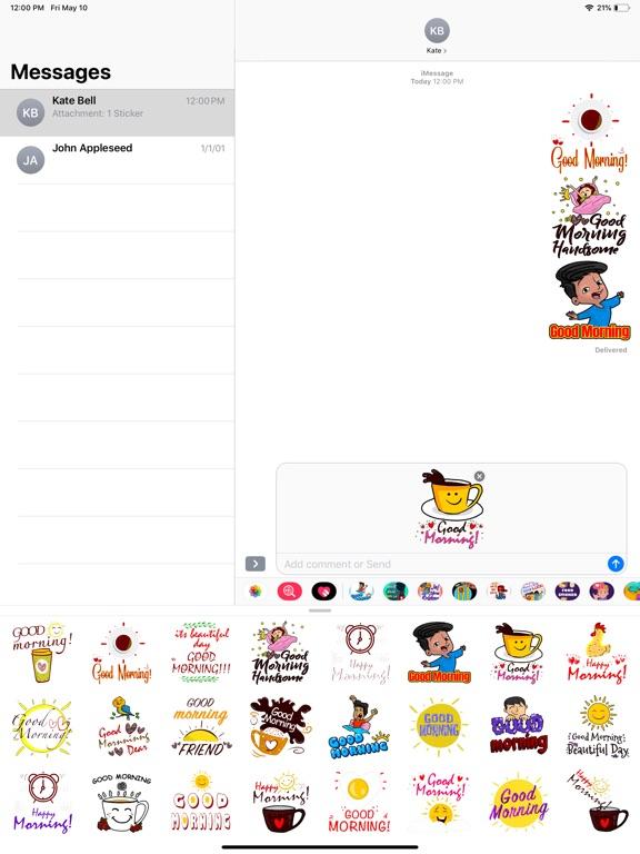 Good Morning Fresh Stickers screenshot 5