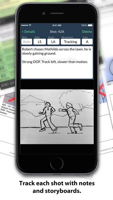 Shotlist review screenshots