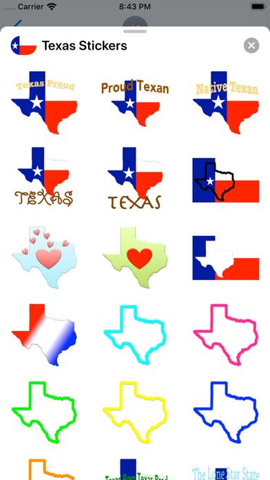 Texas Stickers screenshot 3