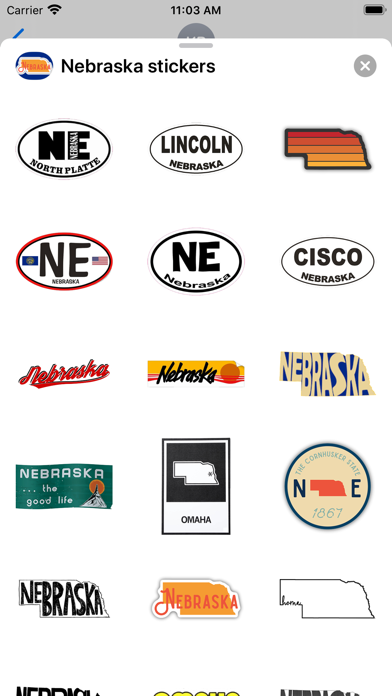 Nebraska emoji - USA stickers screenshot 1