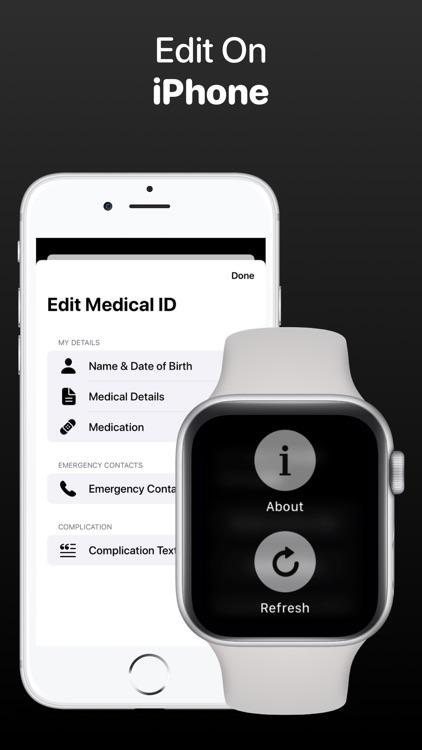 MediWear: Medical ID for Watch screenshot-4