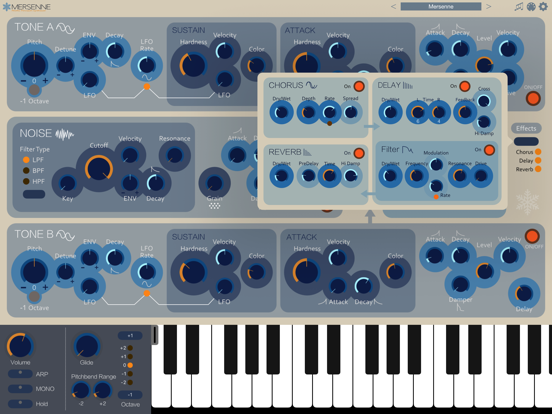Screenshot #6 pour Mersenne Synthesizer