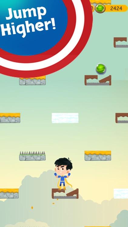 Superhero Jump Gem Adventure