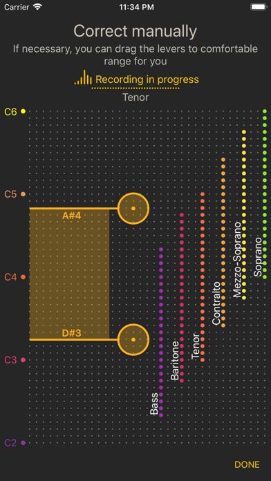 Vocal Range - Pitch Detector screenshot two