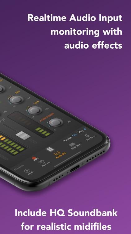 micOnTrax: Audio Midi Player