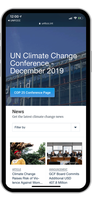 ‎UN Climate Change Screenshot