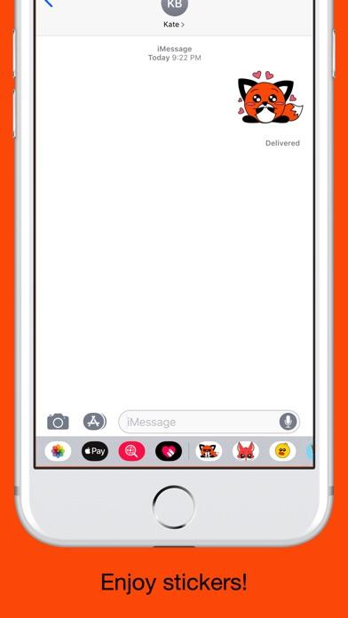 Foxy fox - emoji stickers pack screenshot 5