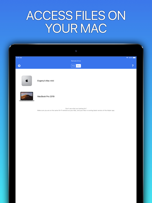 ‎Remote Drive for Mac - Pro Screenshot