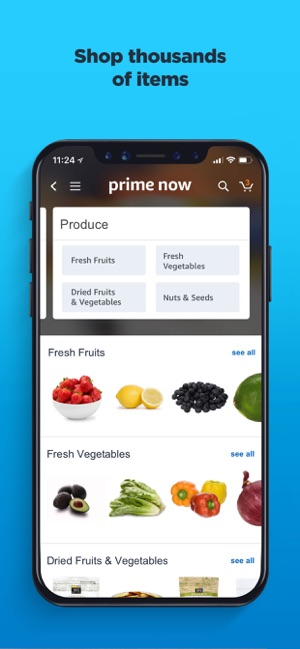 Amazon Prime Now on the App Store