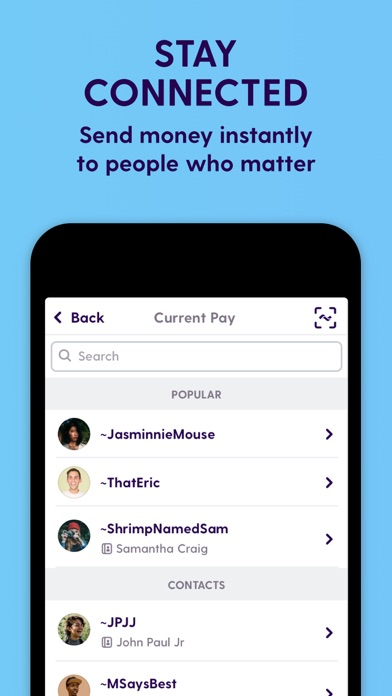 Screenshot for Current - Bank for Modern Life in United States App Store